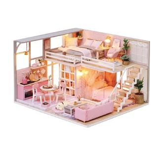 Mô Hình Lắp Ráp Nhà Búp Bê DIY – Girlish Dream L-025 ( Tặng Keo + mica )