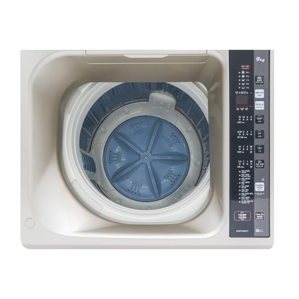 Máy giặt Aqua cửa trên 9kg ( bạc ) AQW-D90CT.S, Giá tháng 10/2020