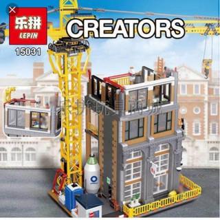 Bộ lắp ráp Lego Lepin 15031 Construction Site Building Block Công trình xây dựng nhà cao tầng