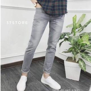 Quần jean nam màu xám lông chuột có size đại 34