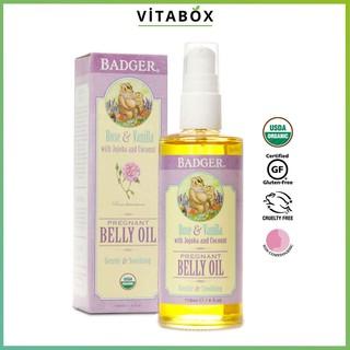 [Chính Hãng] BADGER - Dầu Hữu Cơ Chống Rạn Da Cho Mẹ Bầu - Belly Oil - 118ml [USDA Organic] thumbnail