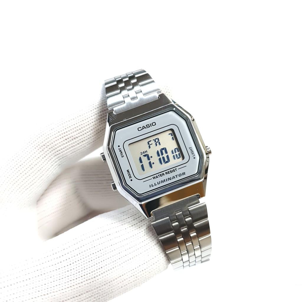 Đồng hồ nữ dây thép Casio chính hãng Anh Khuê LA680 (29mm)