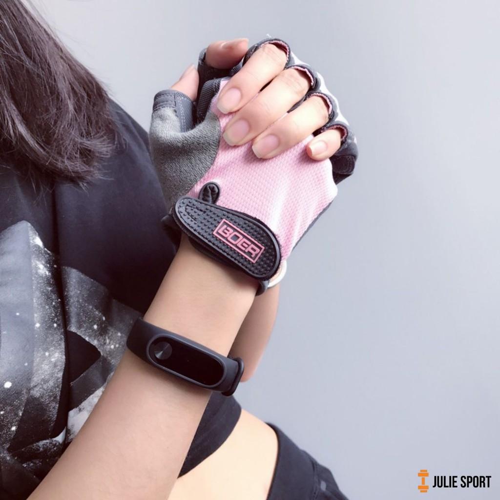 Găng tay tập tạ thể thao (Mẫu mới 2020) II Đồ Yoga Gym VIỆT NAM nữ II VIỆT NAM