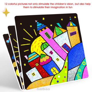 Cartoon Early Education School Funny DIY Handmade Family Self Adhesive Kindergarten Learning Colorful Kids Stickers Toy