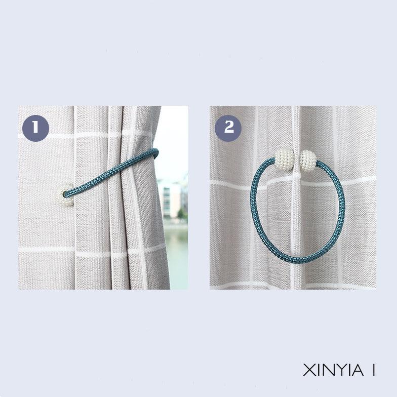 Dây buộc rèm cửa thiết kế từ tính tiện dụng