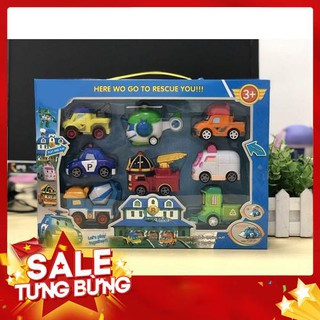 Hot Bộ sưu tập xe đồ chơi an toàn cho bé 8 món Loại Tốt