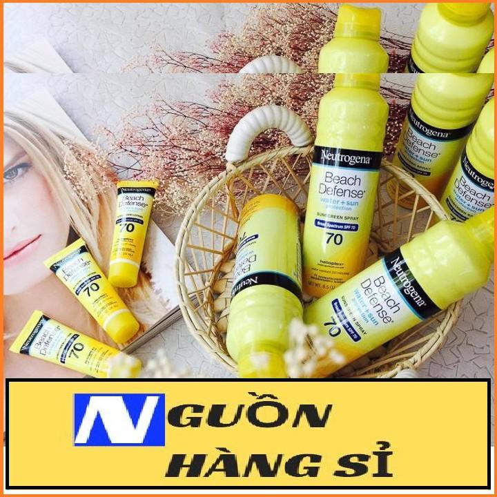 [BÁN SỈ] Xịt Chống Nắng Toàn Thân Neutrogena Beach Defense SPF 70 Sunscreen Spray