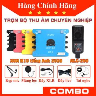 XOX K10 2020 và ALC 280 Full phụ kiện trọn bộ combo sound card và mic thu âm chính hãng thumbnail
