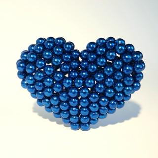 Bộ nam châm xếp hình Bucky Balls 5mm 216 viên màu xanh lam