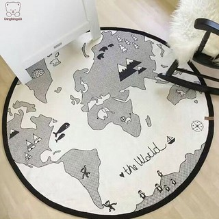 Cartoon Baby Crawling Mat Round Maze World Map Game Pad Kids Toys