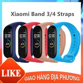 Đối với dây đeo ban đầu Xiaomi Mi Band 4/3 Dây đeo tay silicon Vòng đeo tay Band 4 Dây đeo cổ tay Thay thế [BD10001]
