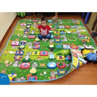 Chiếu xốp Thảm trải sàn xốp 2 mặt phủ Silicone chống thấm, chống ngã cho bé vui chơi (1m6 1m8 2m2 2m5 3m) x 2m thumbnail