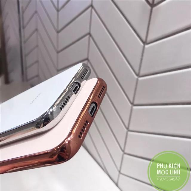 ỐP LƯNG KÍNH VIỀN DẺO CÙNG MÀU Iphone 11 Pro Max xs max X XS xr 8plus 7plus  8 7 6splus 6plus 6s 6