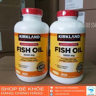 Viên uống dầu cá Omega 3 Fish Oil 1000mg Kirkland