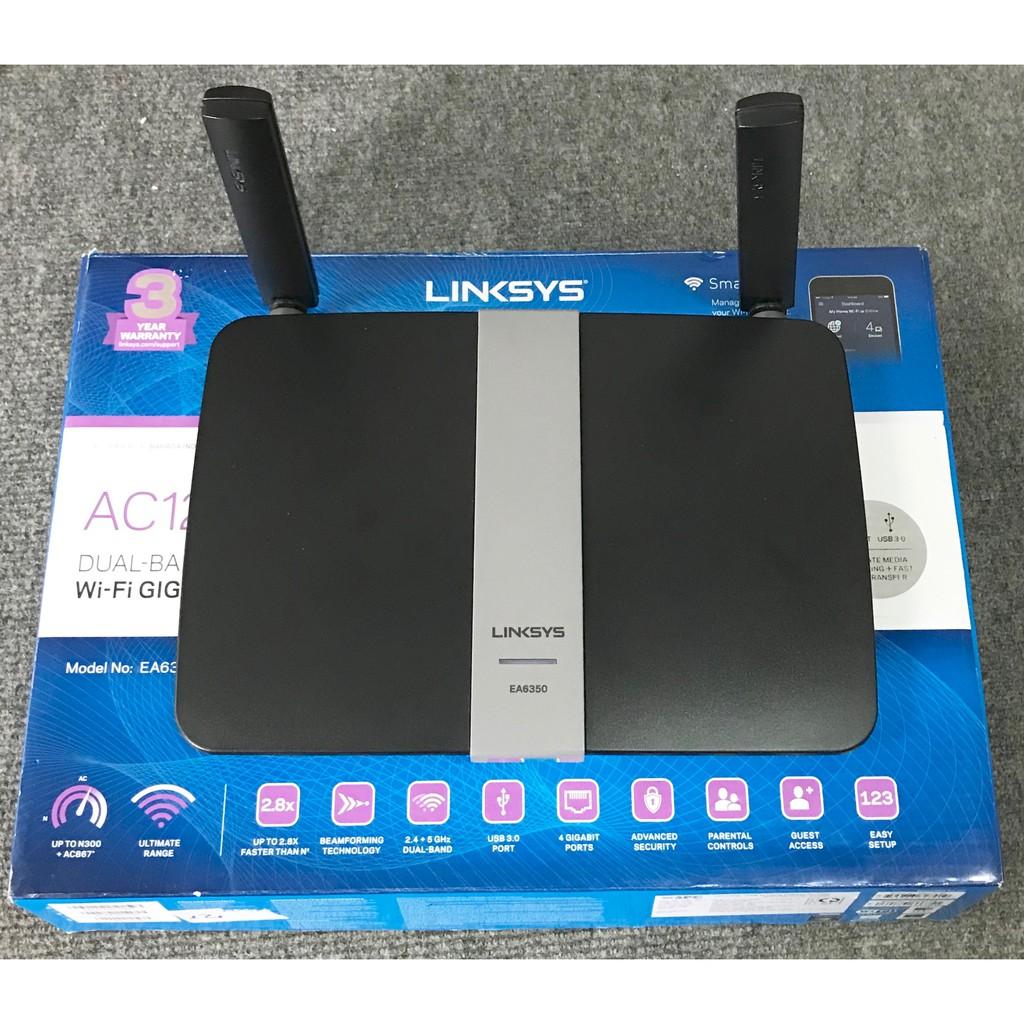 Bộ định tuyến Linksys EA6350 AC1200+ Dual-Band WiFi Router Giá chỉ 1.100.000₫