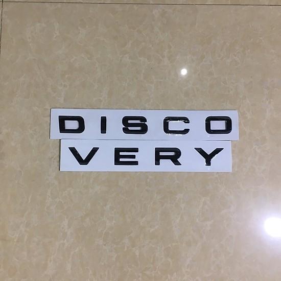 Chữ DISCOVERY Nổi 3D Trang Trí Ô Tô – Có Sẵn Keo Dán 3M