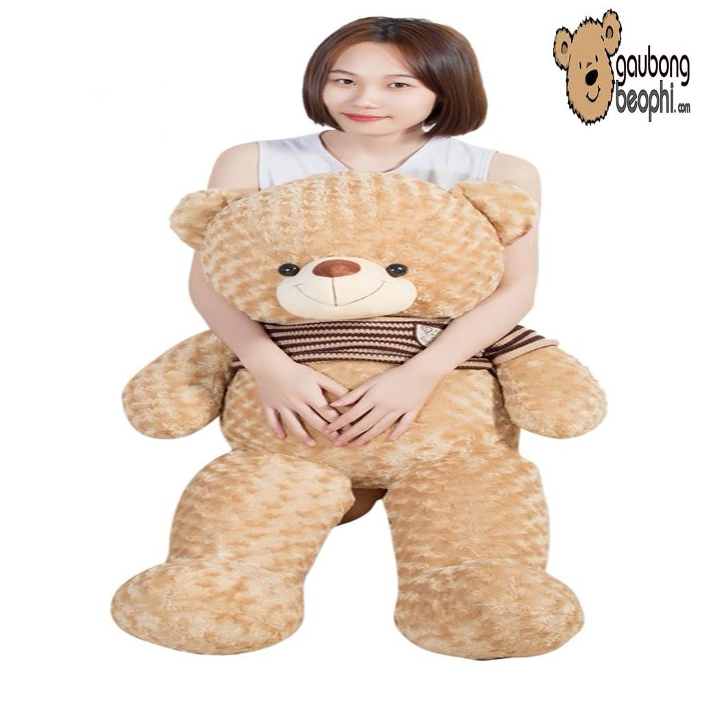 [ SIÊU HOT ]Gấu bông teddy áo len cao cấp màu cafe sữa khổ vải 1M2