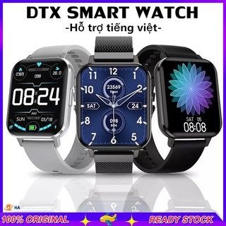 [Dây thép] Đồng hồ thông minh DTX Smart Watch, thay được ảnh nền, 1.78 Inch, Màn hình