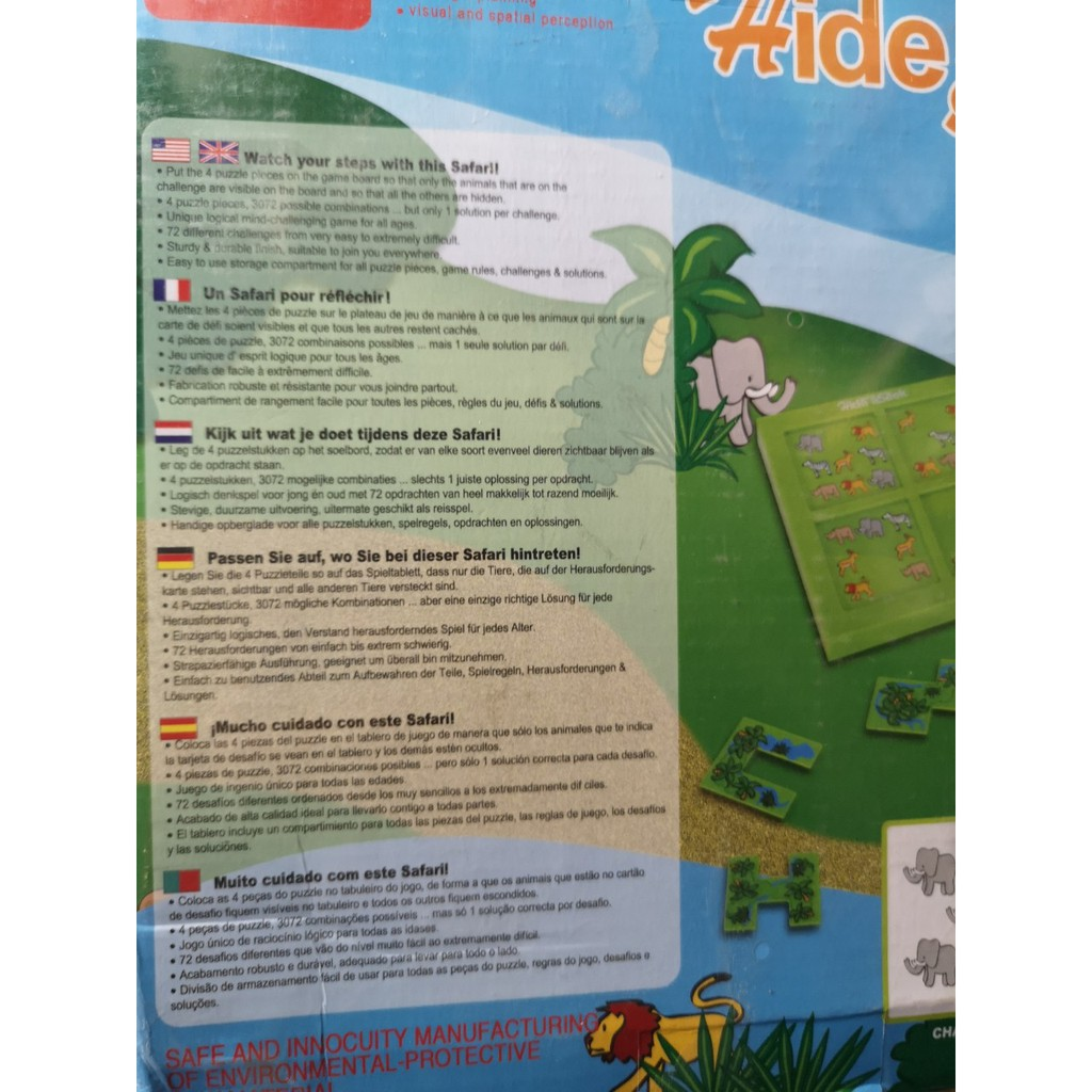 Smart Games Hide and Seek Safari Puzzle Game- 72 Chanllenge game