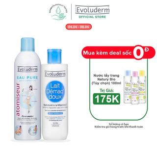 Bộ 2 Xịt khoáng Evoluderm Atomiseur Eau Pure 400ml và Sữa tẩy trang Evoluderm 250ml-7084-3060 thumbnail