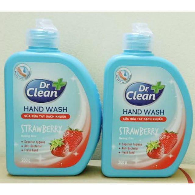 (Nắp bật) Sữa rửa tay sạch khuẩn DR.CLEAN 200g