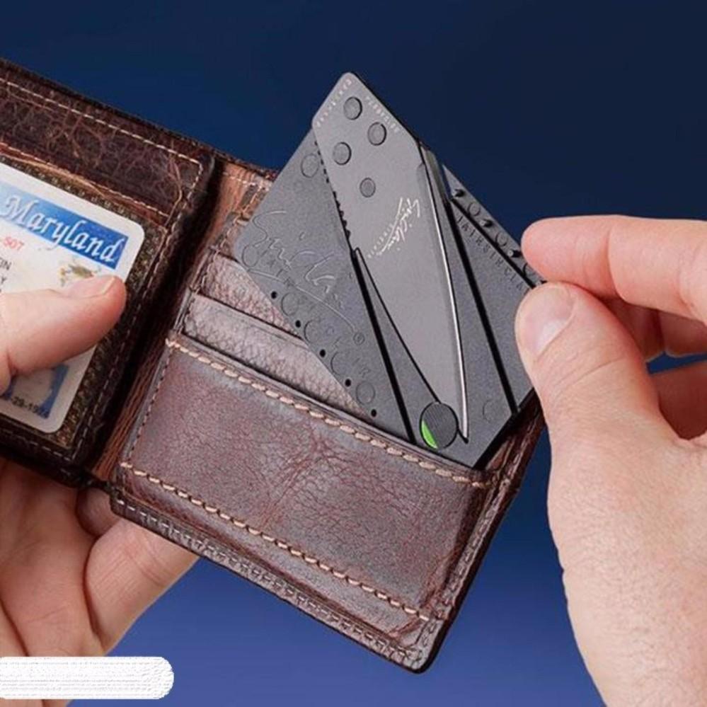 Dao gấp hình thẻ atm bỏ túi