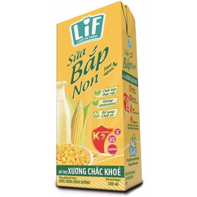 Sữa  bắp  non  thùng  24hop 180ml