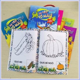 Combo 8 quyển Tập tô màu nhiều chủ đề cho bé
