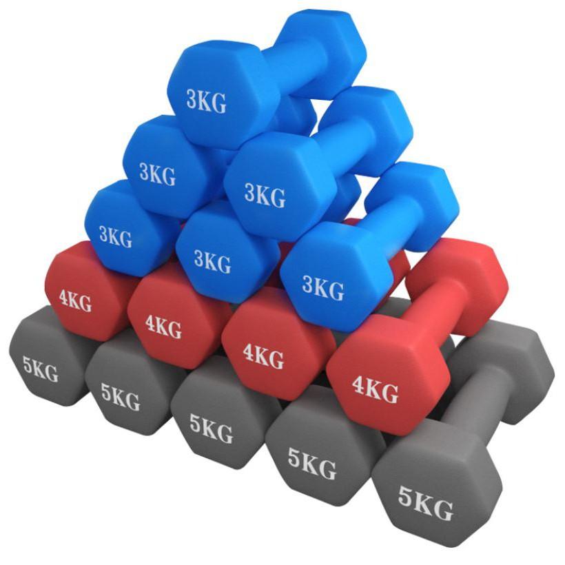 Bộ cặp tạ tay Vinsa 4kg bọc cao su (Tổng 8kg)