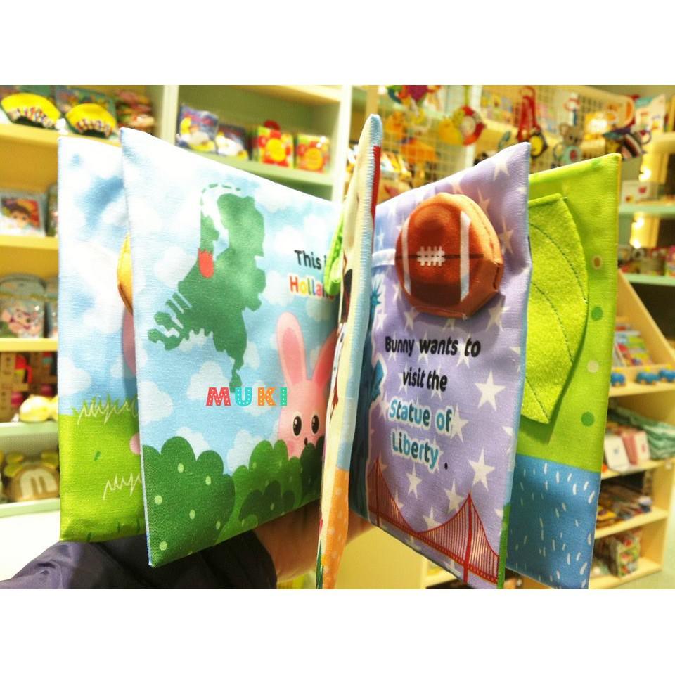 Sách vải Jollybaby - Bunny's travelling diary