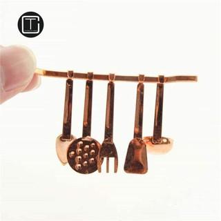 CT 6Pcs 1:12 Miniature Spatula Kitchenware Set