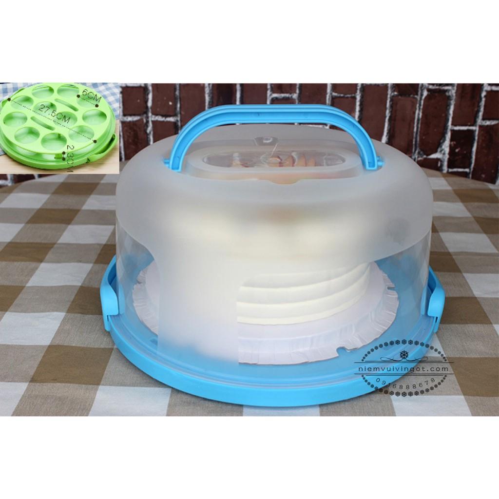 Hộp bánh kem & cupcake nhựa (30.3*15.6cm)