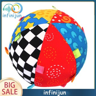 Colorful Cloth Ring Bell Ball Baby Toys Educational Hand Grasp Ball Music Sense Balls Funny Gadgets