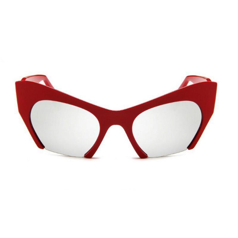 Mắt kính nửa gọng dáng mắt mèo thiết kế phong cách