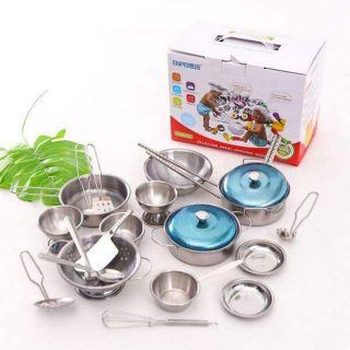 ☀️ ☀️ Bộ đồ chơi nấu ăn INOX (40 chi tiết) ☀️ ☀️