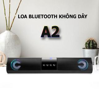 Loa Bluetooth Speaker A2- loa bluetooth mini để bàn siêu bass, có cấu tạo loa kép, đèn nháy nhiều màu sắc.