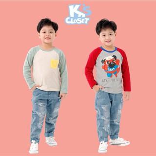 Áo Phông Dài Tay Bé Trai (1-9 Tuổi) K's Closet E000TEF / E020TEF TM
