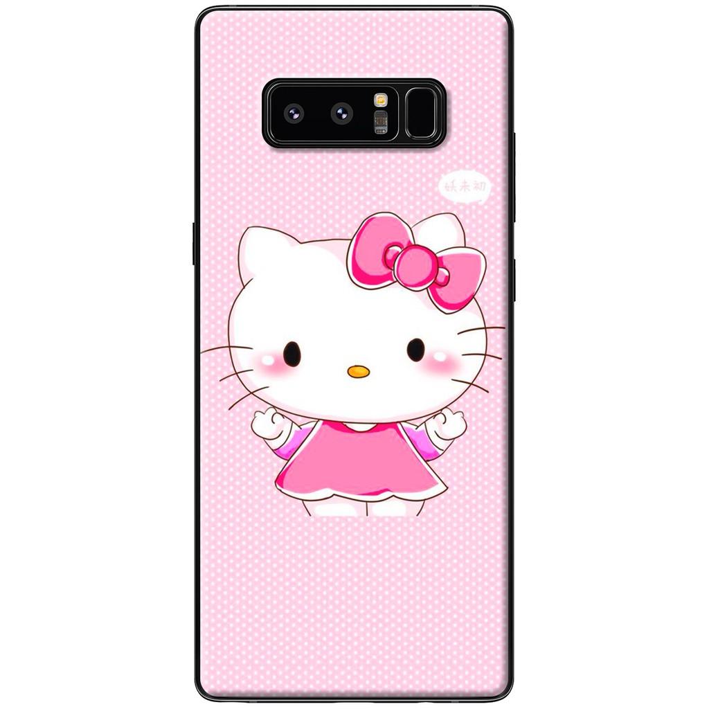 Ốp lưng Samsung Note 8 - Nhựa dẻo Mèo hồng