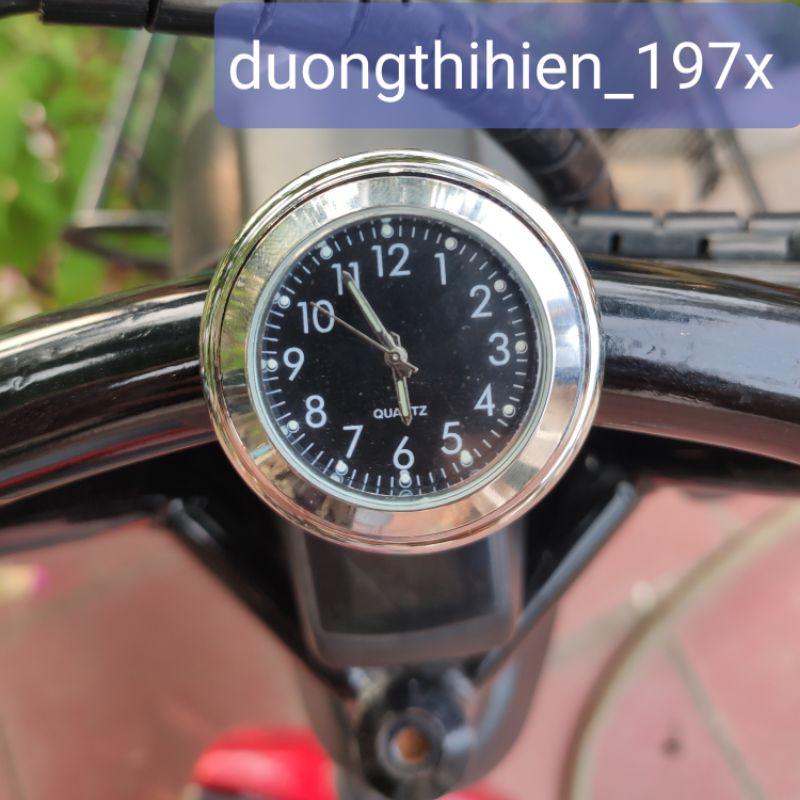 Đồng hồ kim dạ quang gắn ghi đông xe đẹp và tiện dụng