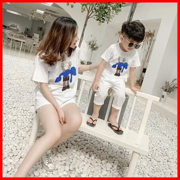 Follow Shop Săn Deal Hot Ngày 12/12 Áo Thun Gia Đình Cho Mẹ Bé In Hình Búp Bê Kaws