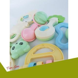 [ƯU ĐÃI LỚN] Bộ đồ chơi xúc xắc Baby Rattles Suit 8 món chính hãng