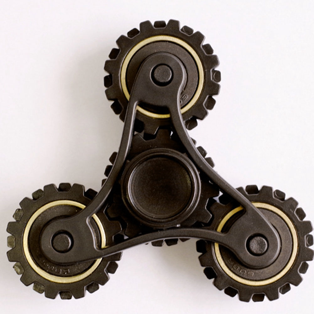 New Creative Wheel Gears Design Alloy Fingertip gyro EDC Toys for ADHD Sufferers