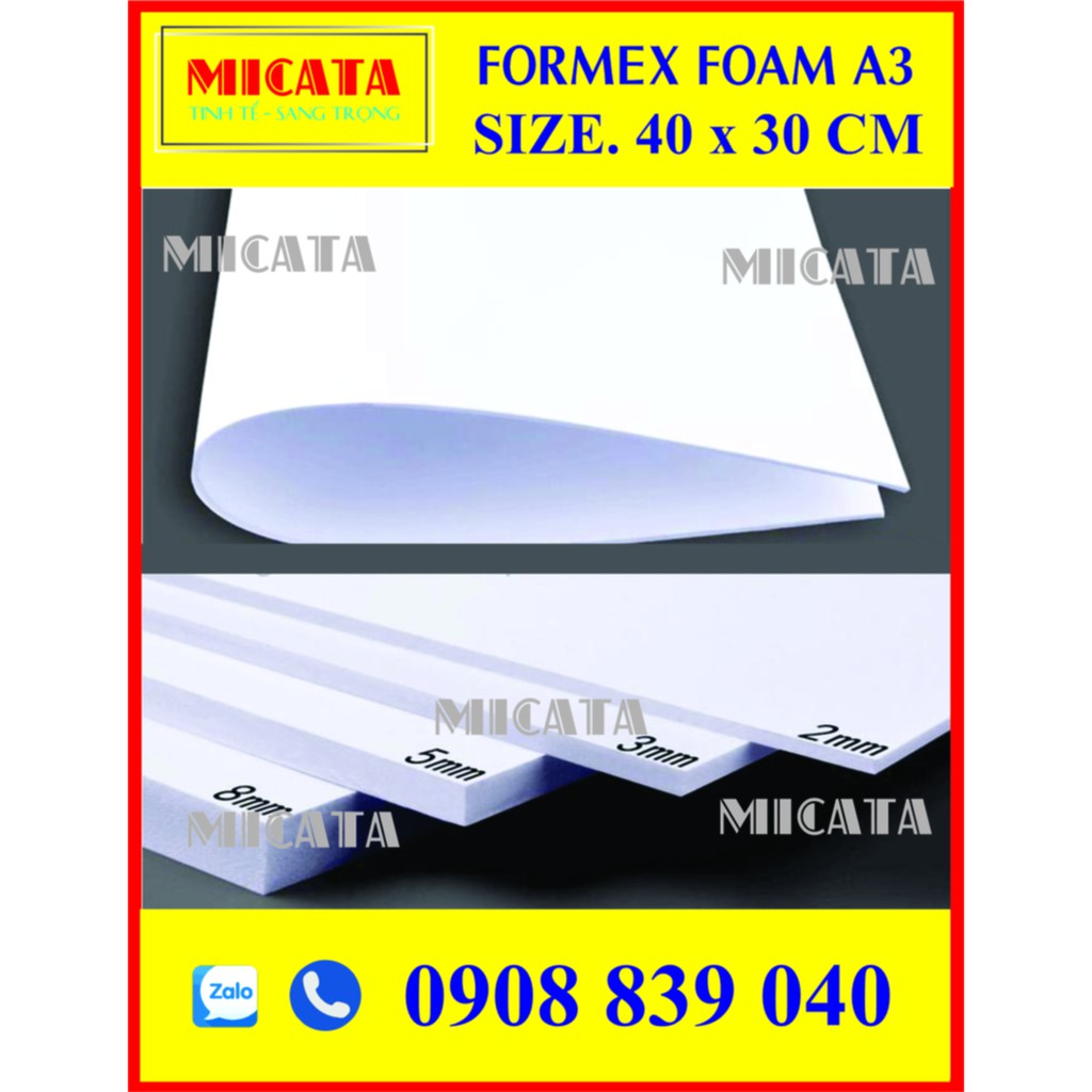 BÌA MÔ HÌNH A3 30x40 CM  FORMEX FOAM