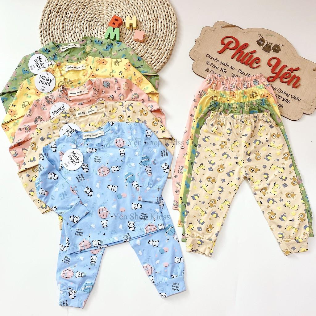 Sale !!! Bộ Dài  Minky Mom Cotton 100 % In Họa Tiết Khỉ-Ngựa Vàng Cho Bé_Super Sale (1311)