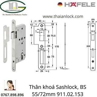 Thân khoá Sashlock, BS 55/72mm 911.02.153
