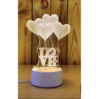 Đèn ngủ 3D LOVE BAY, đèn trang trí, quà tặng sinh nhật độc đáo