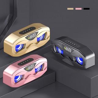 Loa Bluetooth cầm tay Manovo M5 âm thanh siêu trầm tích hợp loa kép, màn hình led, FM radio dung lượng pin 2500mAh