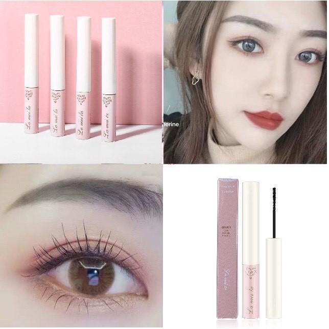 Mascara siêu mảnh chuốt mi dài mịn hàng nội địa Trung vỏ hồng Lameila   Thế Giới Skin Care
