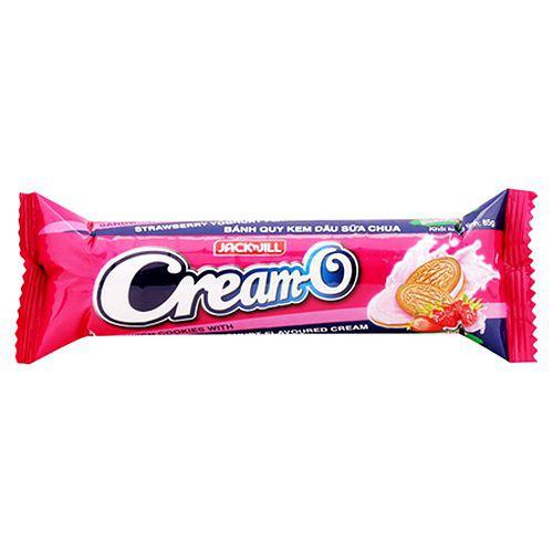 Bánh quy Cream-O kem dâu sữa chua gói 85g