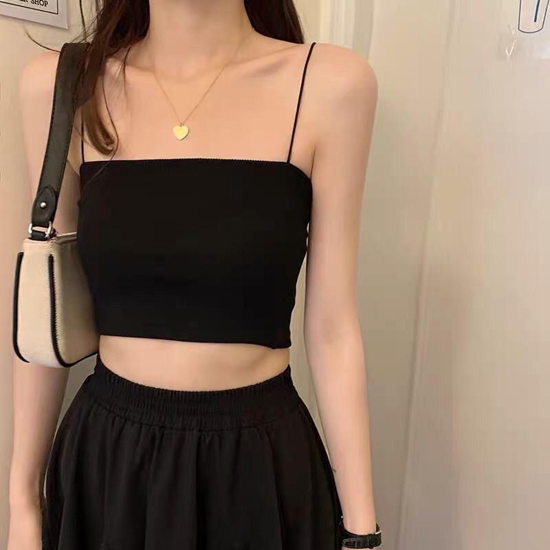 Áo hai dây croptop sợi nhỏ cực sexy dễ mix đồ